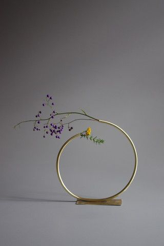 Anna Varendorff Brass Vase 11 - Most of a Cirle