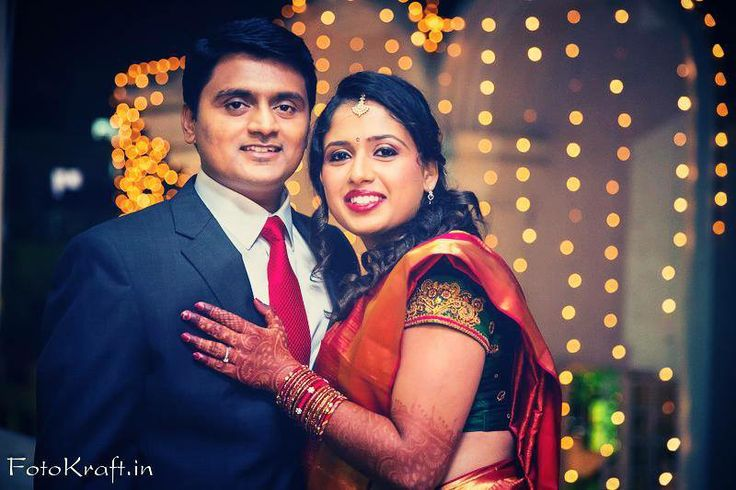 South Indian bride wearing bridal saree and jewellery. Reception look. Makeup by Swank Studio.