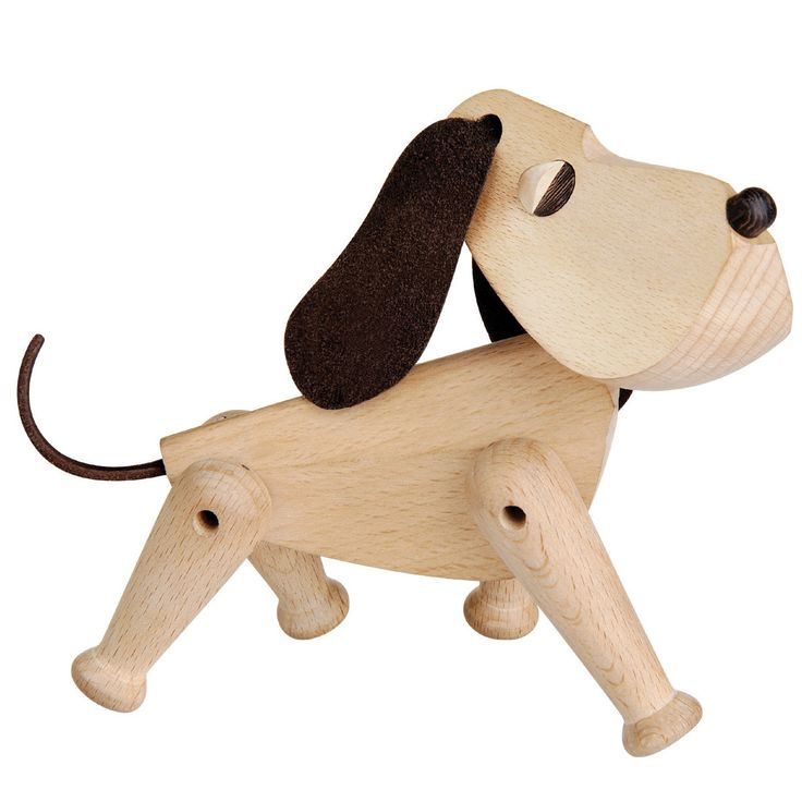 Architectmade Oscar Wooden Dog Ornament: Oscar is an elaborately designed dog with a flair for refined simplicity, which makes you look twice. Oscar was designed in 1953. Designed by Hans Bølling.