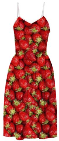 Strawberries Summer Dress - Available Here: http://printallover.me/products/strawberries-3