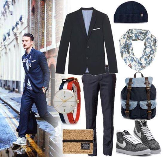 Le look #dandy #cool by #OneDapperStreet http://petitlien.fr/72yt.  w/ #TheKooples, #Topman, #ASOS, #PULLandBEAR, #Topshop, #Montres #Lip, #Nike