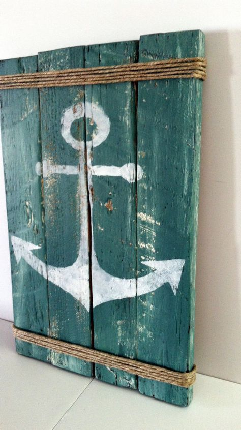 Paletten-Anker Schild Rustic Lake Decor Rustic Ocean Decor Summertime Pallet Sign
