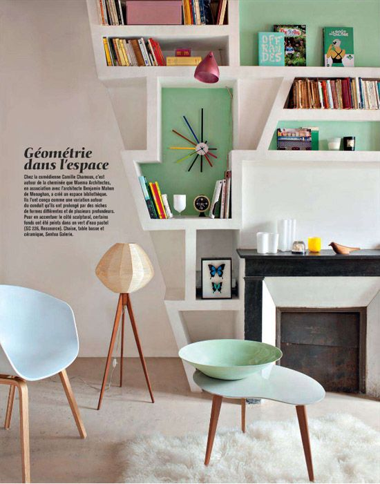 10 Creative Ways to Display Books - Photo by Vincent Leroux for Marie Claire Maison (Feb/Mar '12). Very useful ideas for all of Kennys books!