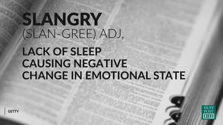 Did you know you can be so sleepy that you become angry? When your body is overtired, you are unable to process emotions. We discover what actually happens when your slangry and how you can avoid it.