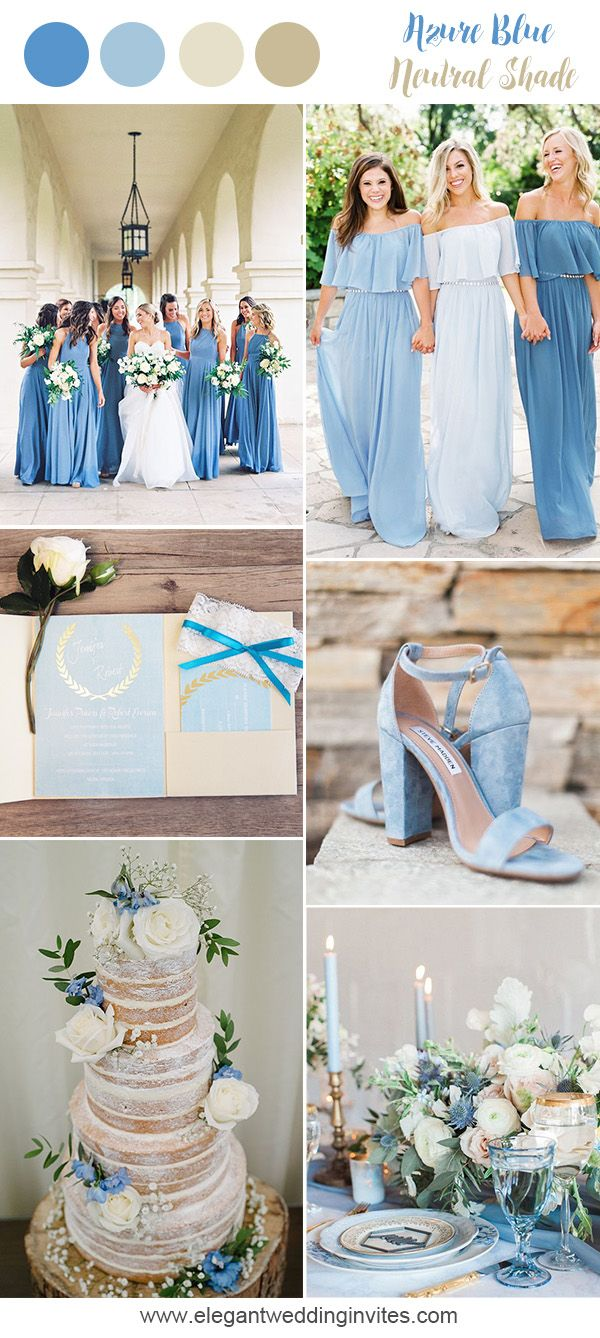 Dusty Blue Romantic Nautral Wedding Colors For Spring And Summer Blue Themed Wedding Wedding Colors Blue Spring Wedding Colors