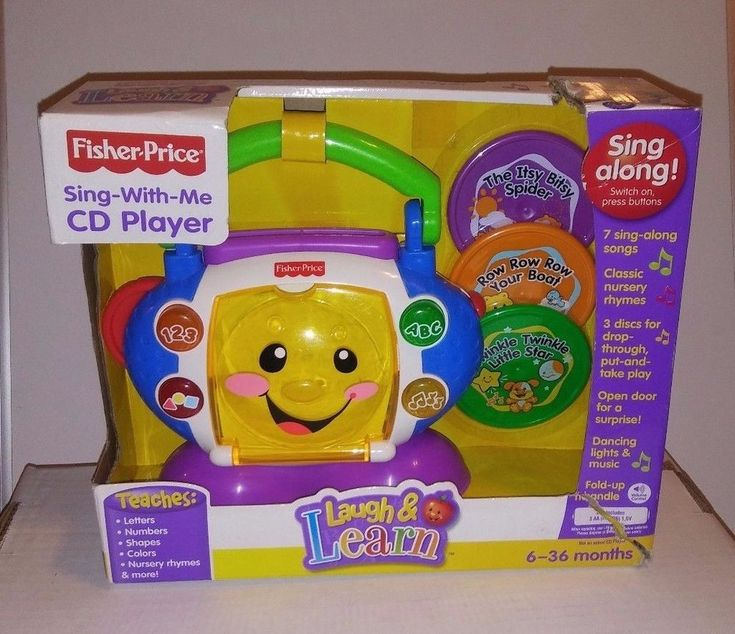 Fisher-Price Laugh and Learn Sing-with-Me CD Player NOS NEW #FisherPrice