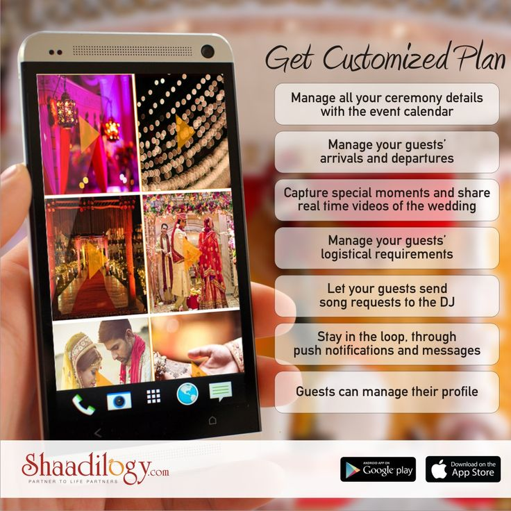 Now manage your wedding with your own customized app. Get all the features done as per your wedding requirement. Visit:http://shaadilogy.com/eventapp/