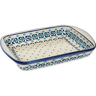 Blue Painted Rectangal Serving Dish