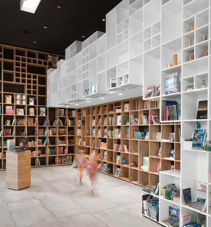 TOP 10 retail interiors of 2015 designboom // book center in trieste by sono architects