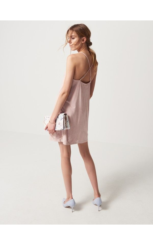 LADIES` DRESS, ŠATY, OVERALY, růžová, MOHITO