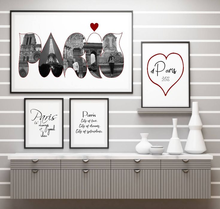 Personalized Photo, Photo Collage, Paris Art, Holiday Gift, Digital Art Collage, Personalised Photo Gift, Custom Photo Art Collage
