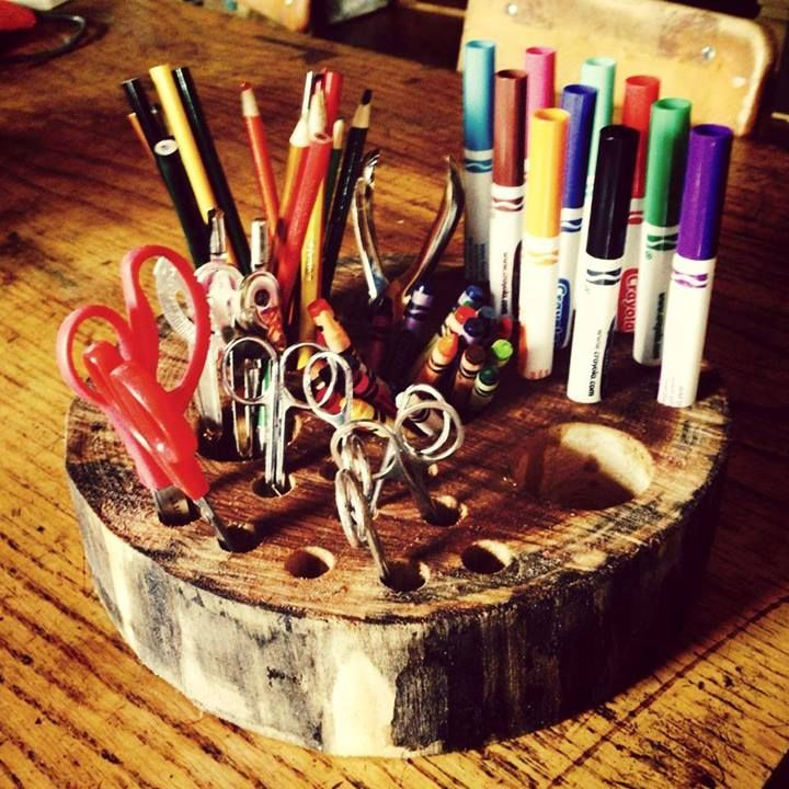 Fun idea for a DiY natural 'art supply caddy' from Explorations Early Learning