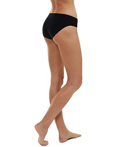 Womens Invisible Underwear Seamless No Show Black Knickers Pants Gym Sports Wear