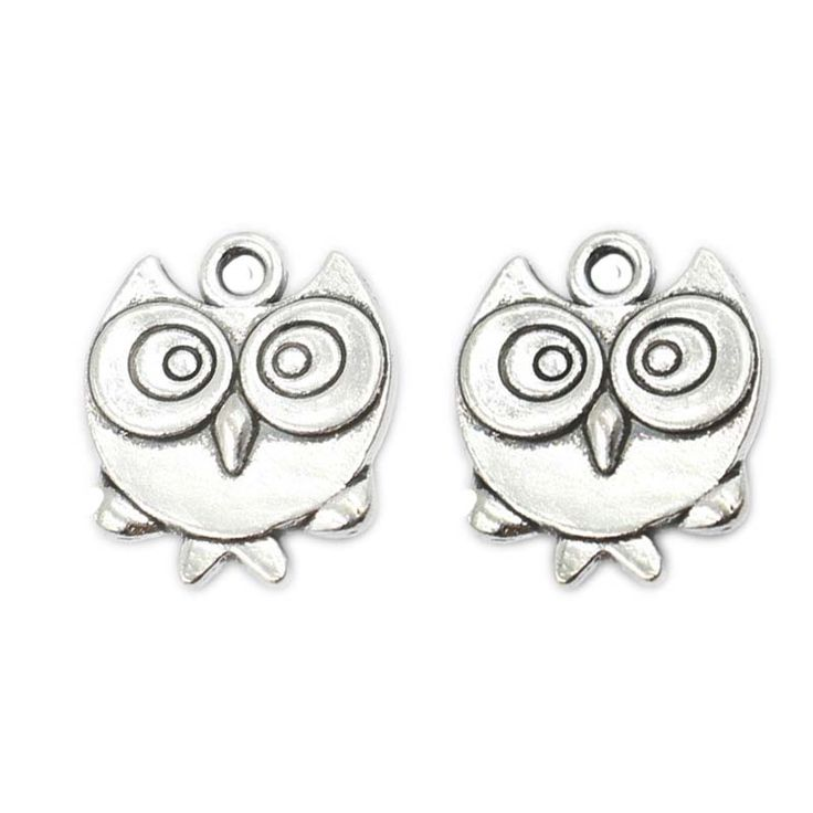20pcs Tibetan Silver Plated Bird Owl Charms Pendants for Bracelet Necklace Jewelry Making DIY Handmade Craft 17x15mm D305
