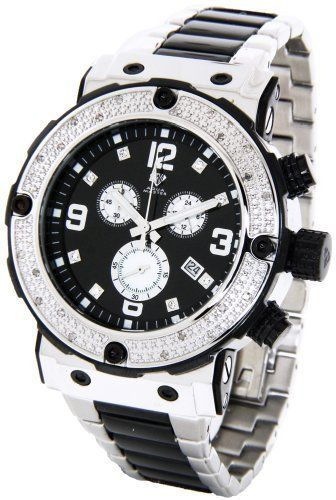 17 best images about men s jewellery skeleton mens aqua master genuine diamond watch stainless steel chronograph black face