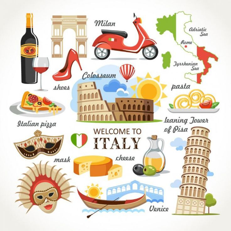 Travel Concept Country Landmark 02 D (Welcome To Italy)