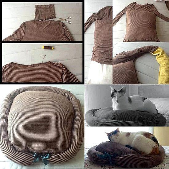cama gato Camas recicladas para tu mascota
