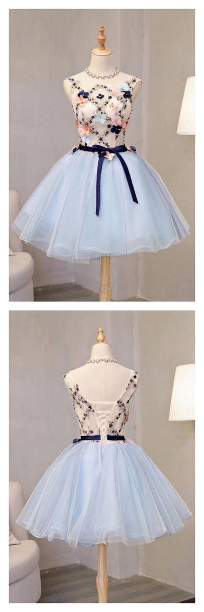 Vintage Flower Short Princess Homecoming Dress Party Dresses