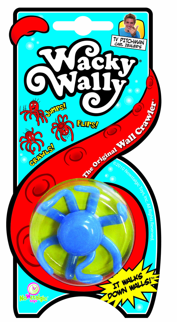 Wacky Wally! From the window to the wall, how will you make your Wacky Wally crawl? From Nowstalgic Toys. #NowstalgicToys #wackywally #vintage #toys #tbt