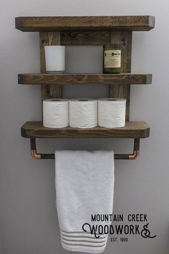 Wonderful Totally Free Wooden Bathroom Shelf Suggestions Rustic