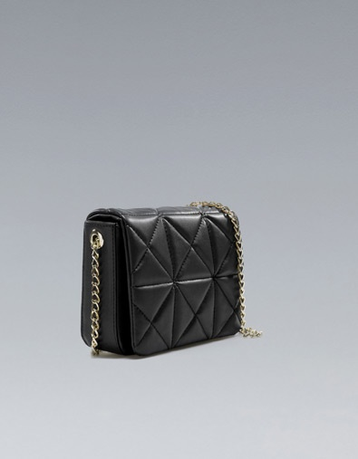 Mini Quilted Messenger Bag by Zara