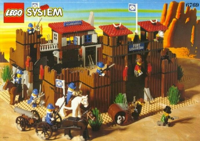 Набор лего Лего Кавбой Аорт Легоредо. Набор 2002года. Артикул:6769 Lego sysiem. 10минифигурок