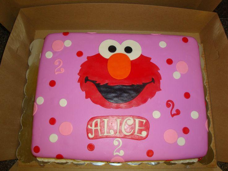 Alice S Elmo Cake 11x15 Sheet Cake Covered In Mmf