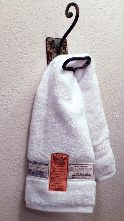 Apothecary Label Hand Towels: Free Digital Downloads | Just Something I Made