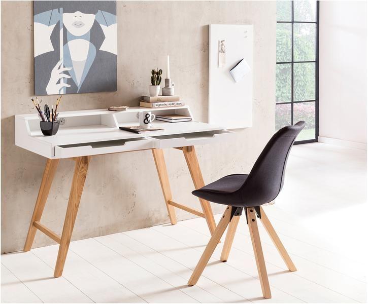 Schreibtisch Skandi In Weiss Mit Holzbeinen Westwingnow Burotisch Design Design Schreibtisch Heimburo