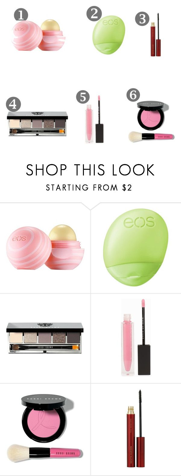 """""""Santa's wish list 3"""" by sofiaidaanneli98 on Polyvore featuring beauty, Eos, Bobbi Brown Cosmetics, MAKE UP STORE and Kevyn Aucoin"""
