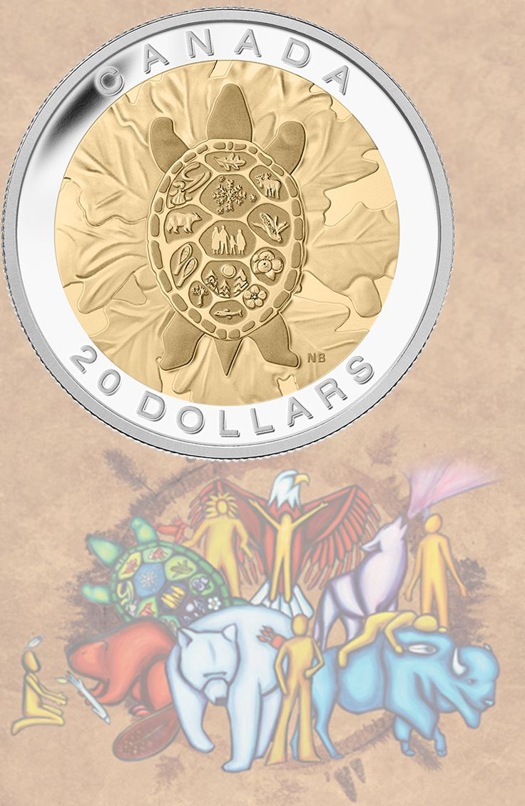 2014 $20 Fine Silver Coin - Truth: Turtle | Truth is one of the Seven Sacred Teachings that honour the traditional concepts of respect and sharing.