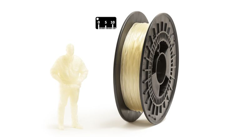 TPU FLEX by EUMAKERS by the meter (by the yard)   Color: transparent   Available in 1.75 mm diameter on spools of 500 g net of material, FLEX EUMAKERS is a high quality and easy-to-use filament, which is ideal for prototypes that require flexibility   Choose from the assortment of four colours (white, black, natural and silver) and colour your world with EUMAKERS   www.monzamakers.com/shop   #3dprinting #stampa3d #3dprint #tpu #flex#3dfilaments #3dfilament