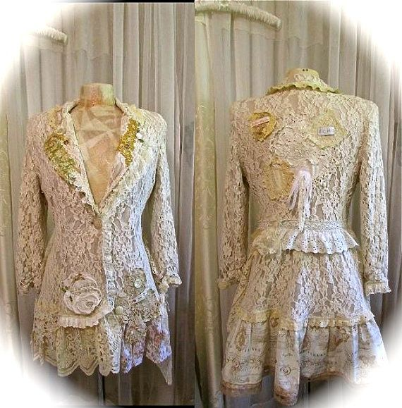 This jacket has a nice thick softness. Love how it feels warm and comfortable too! The lace fabric and pieces are so very soft and delicate