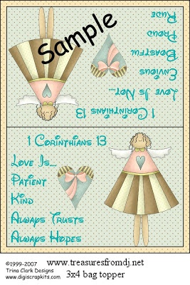 Happybird's Crafting Haven: 1st Corinthians~Chapter 13 Baggie Topper For You!