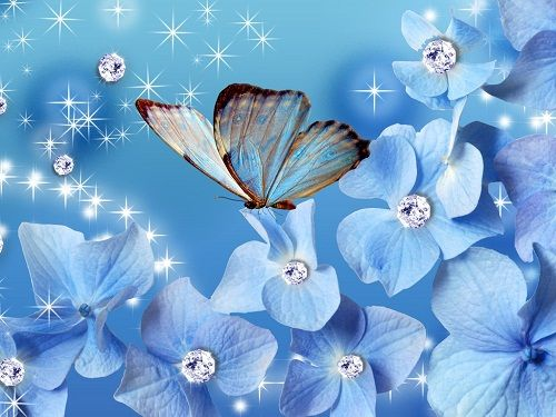 Glowing Girl Butterflies Wallpaper | Flowers and Butterflies - yorkshire_rose Photo