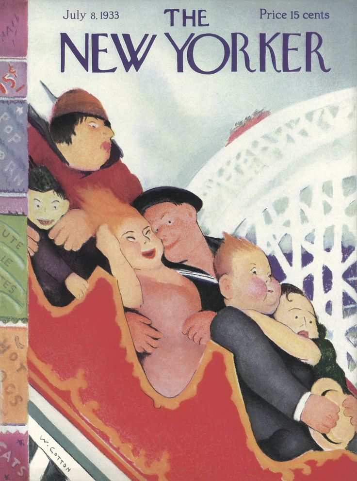 The New Yorker - Saturday, July 8, 1933 - Issue # 438 - Vol. 9 - N° 21 - Cover by : William Cotton