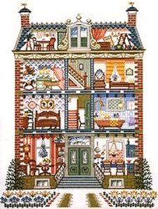 Victorian House Cross Stitch Pattern | dolls house cross stitch kit 219241 dolls house cross stitch