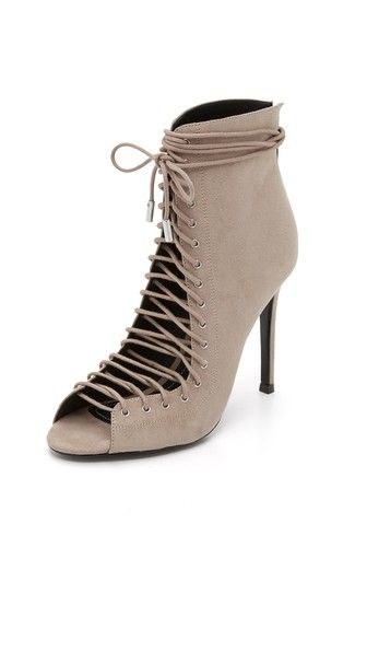 KENDALL + KYLIE Ginny Lace Up Heels in Taupe - $199