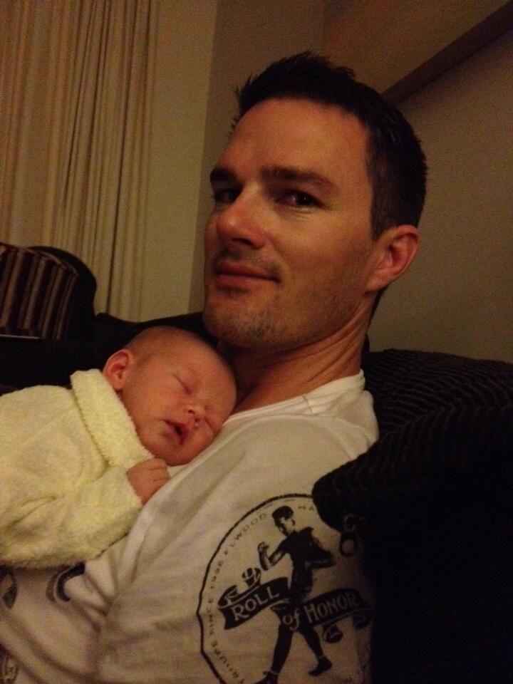 #newmum Daddy on duty!