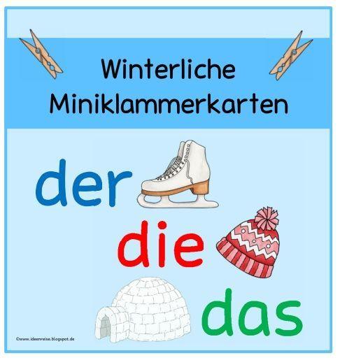 Ideenreise: Winterliche Miniklammerkarten (Artikelbestimmung)