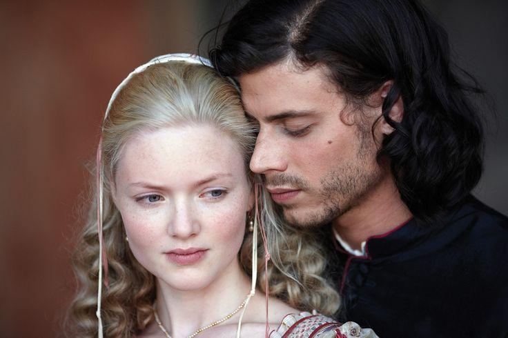 """""""The Borgias"""", TV series, Showtime, 2011-2013. Holliday Granger as Lucrezia Borgia and François Arnaud as Cesare Borgia."""