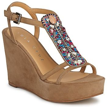Fabulous boho wedge sandals by Lola Cruz @rubbersole ! | See more about Wedge Sandals, Sandal Wedges and Wedges.