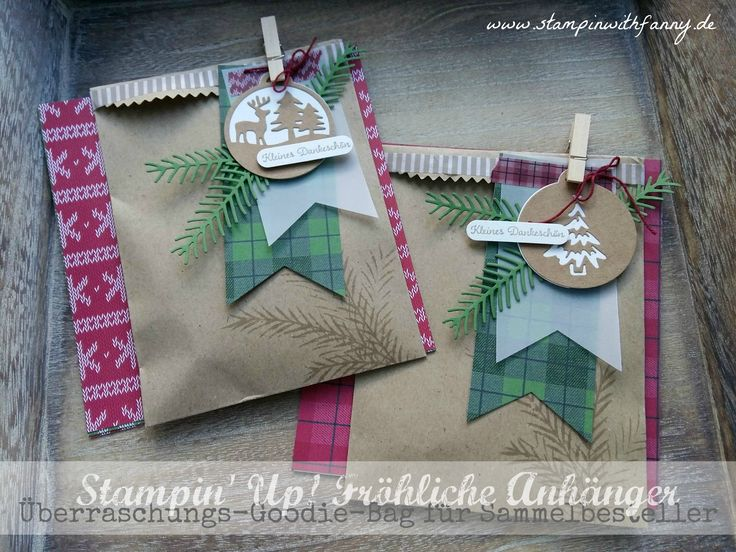 stampin up stampinwithfanny tüte bag goodie tannenzauber christmas pines zapfen pretty christmas merry tags fröhliche anhänger gemütliche weihnachten #stampinwithfanny