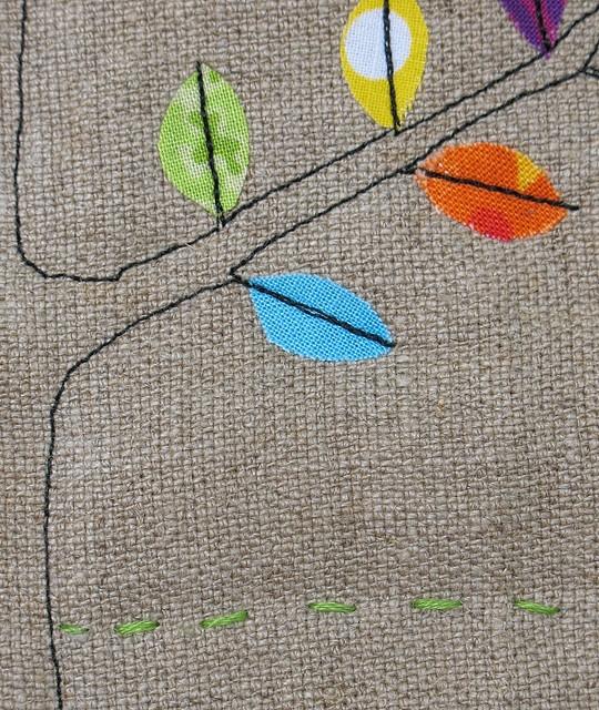 Treeology art quilt 2/3 detail - Kajsa Wikman