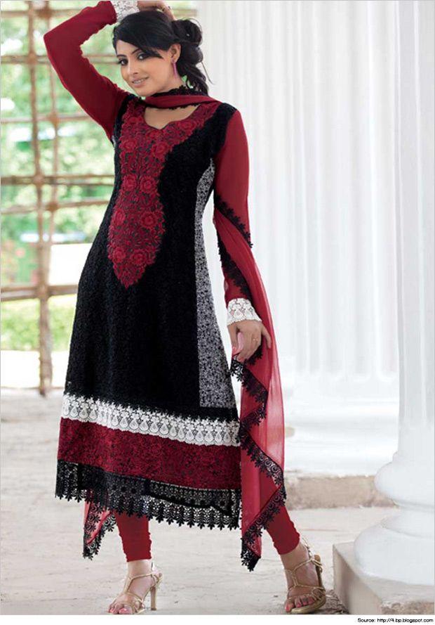 Classy Salwar Kameez Neck Designs with Laces