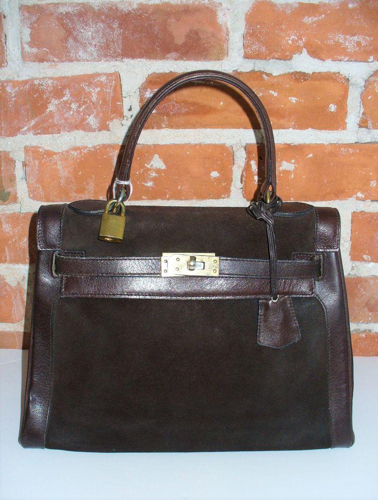 Vintage Coblentz Made in France Suede & Leather Kelly Bag