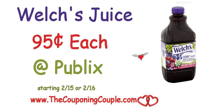 Welch's Juice Only $0.95 Each @ Publix starting 2/15 or 2/16. I love being able to get good juice cheap! Get your coupons ready for this deal  Click the link below to get all of the details ► http://www.thecouponingcouple.com/welchs-juice-only-0-95-each-publix-starting-216/ #Coupons #Couponing #CouponCommunity  Visit us at http://www.thecouponingcouple.com for more great posts!