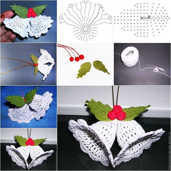 This is a nice idea for crochet lovers . You can make handmade crochet bell ornaments for Christmas. What better way to get in Christmas holiday spirit than crocheting your own ornaments! Take a look at below link to decorate your Christmas tree ! Happy crocheting ! Click here for the free pattern from 'Alimero'   Crochet Christmas-ornaments-with-free-pattern