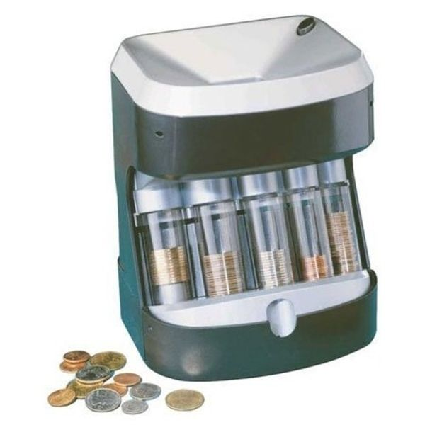 COIN SORTER CHANGE MACHINE Manual Hand Crank Money Counter Roller Sort Portable