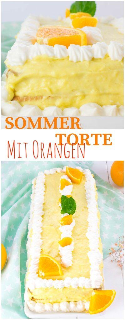 Sommer Torte mit #Orangen
